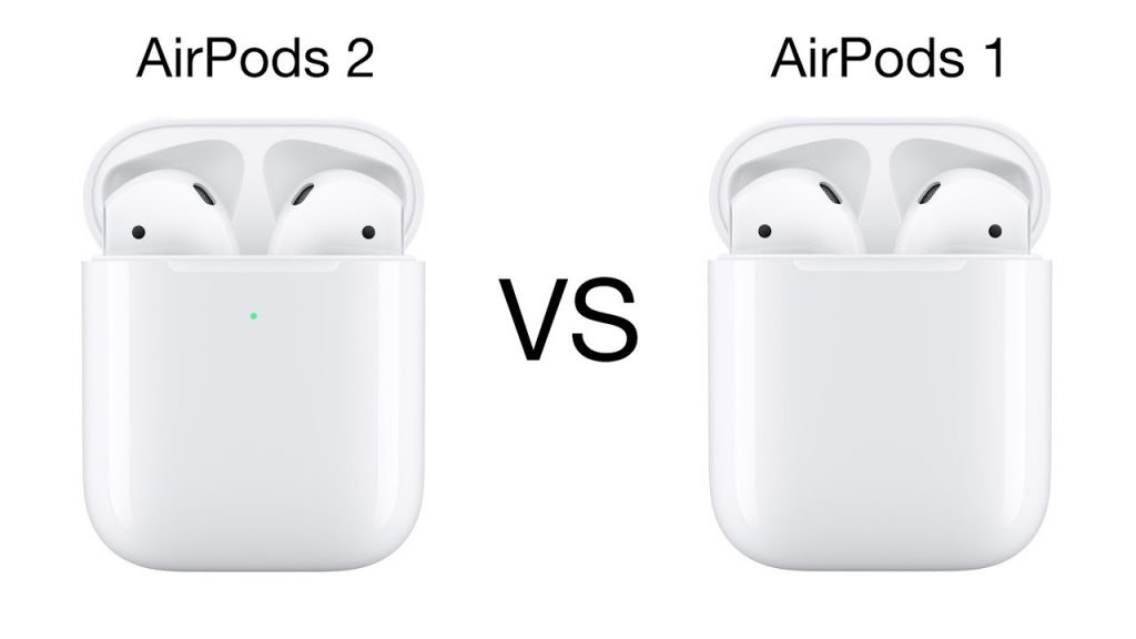 difference between airpods 1 and 2