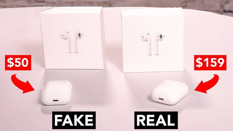 real vs fake airpods