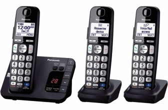 Panasonic KX-TGE233B Expandable Cordless Digital Phone with Large Keypad
